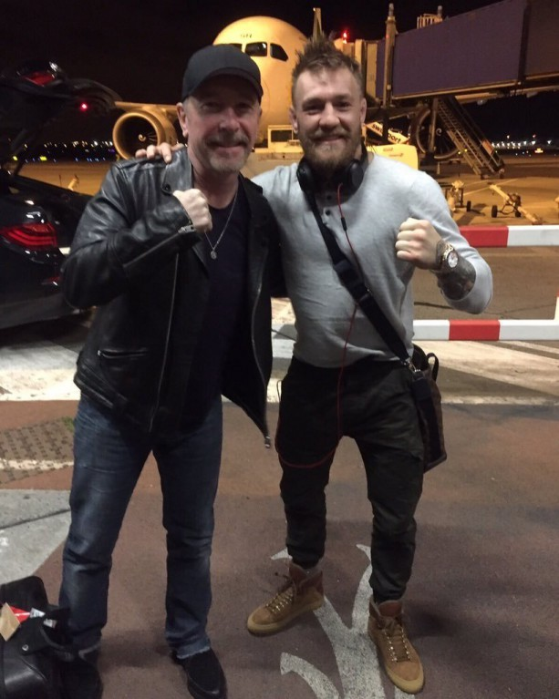 Conor McGregor Flies Home For Christmas With Rock Star