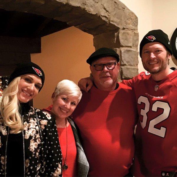 Bruce Arians Hangs With Blake Shelton & Gwen Stefani