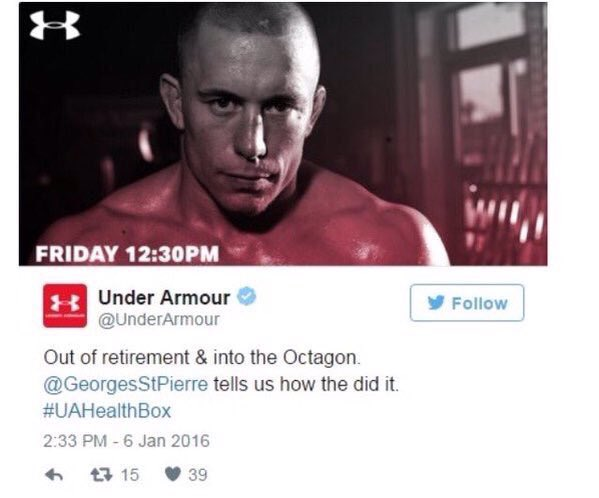 Georges St Pierre Returning To The UFC?