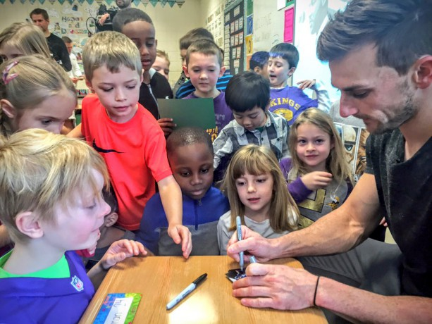 Vikings Kicker Visits First Graders After Missed FG