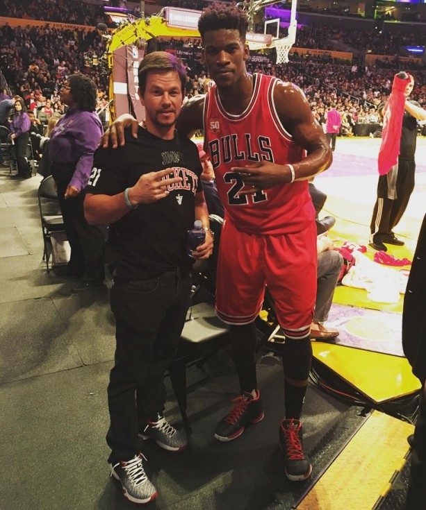 Jimmy Butler and His Best Friend Mark Wahlberg