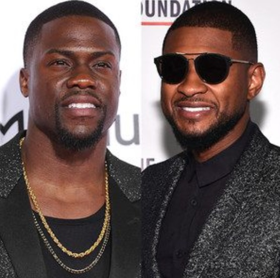 Usher and Kevin Hart Getting Good with Their Hands