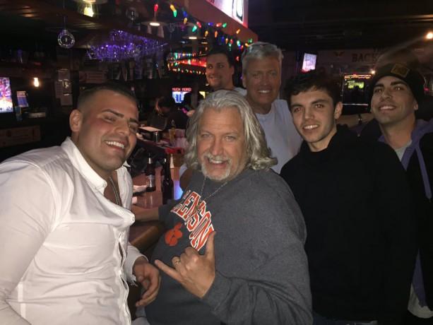 Rex & Rob Ryan At Bar Doing Shots