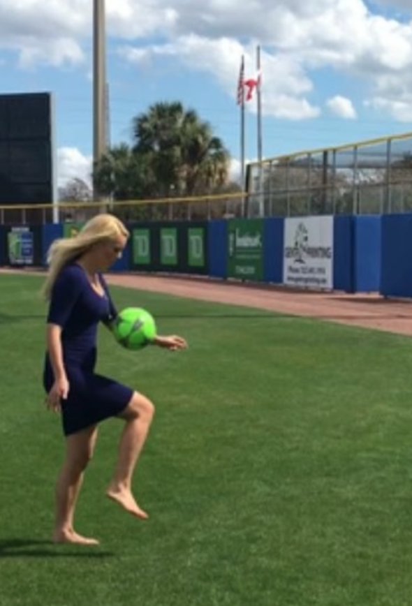 Britt McHenry Shows Off Her Soccer Skills