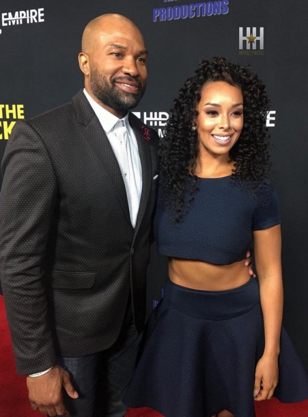 Derek Fisher Hits The Red Carpet With Matt Barnes Ex