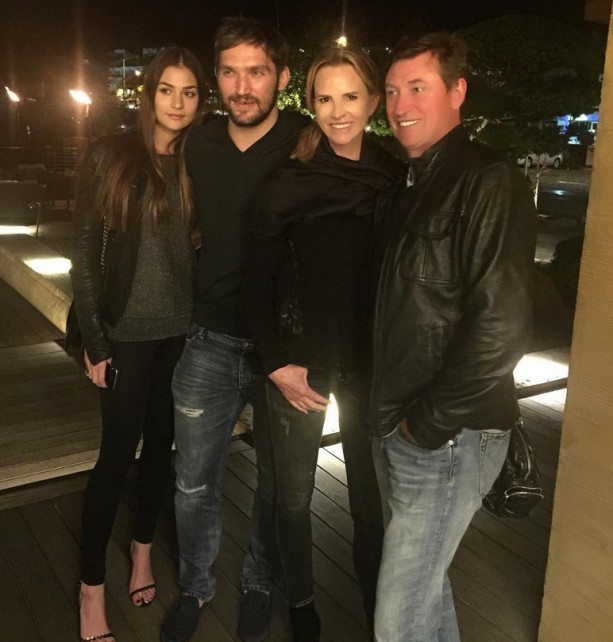 The Great Ones Hang with Ovechkin and Girlfriend