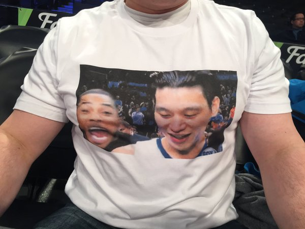 Nelly Videobombing Jeremy Lin is Now a Shirt