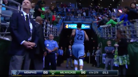 Matt Barnes Chased Opposing Player into the Tunnel