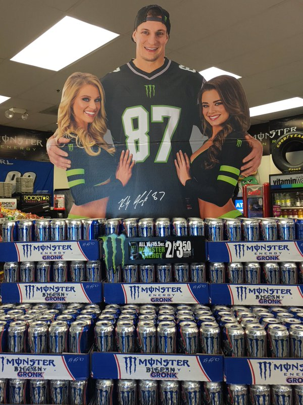 Gronk energy on three T...