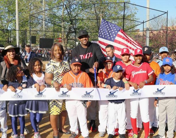 CC Sabathia helps renovate little league park in Bronx