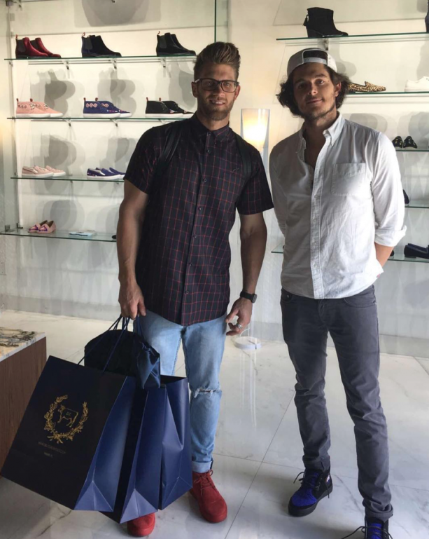 Bryce Harper With Perfect Hair Shoe Shopping