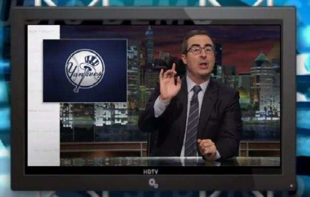 Comedian John Oliver Goes Hard at the Yankees