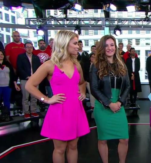 Paige VanZant and Miesha Tate Do the Running Man Challenge