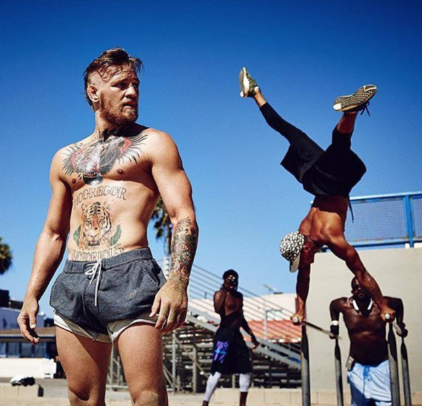 Conor McGregor Enjoying Los Angeles While Still Training