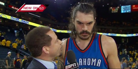 Steven Adams Sorry For Calling Warriors 'Quick Little Monkeys'