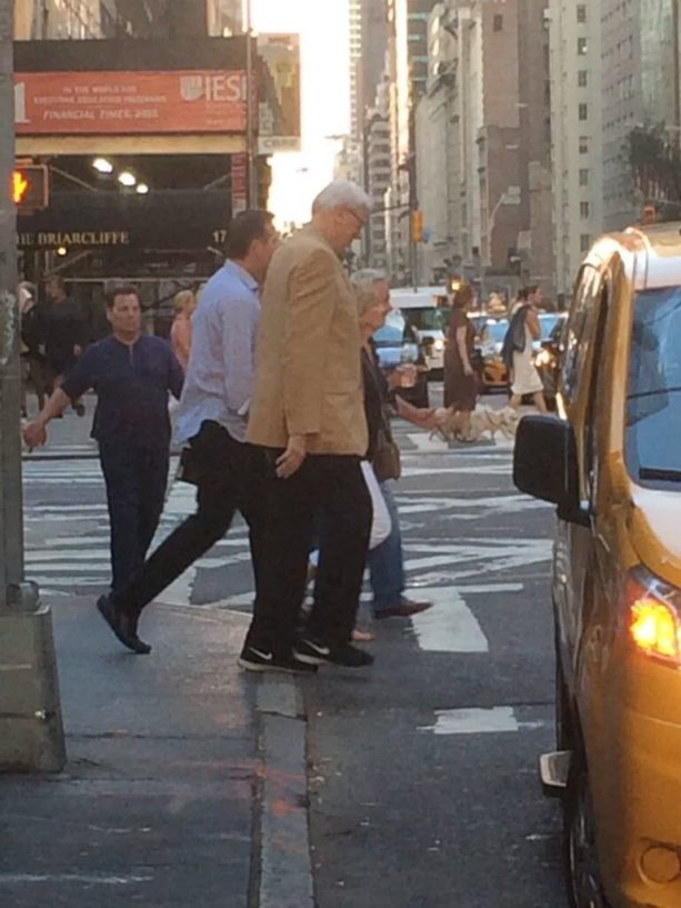 Phil Jackson and New Coach Stomping The NY Streets