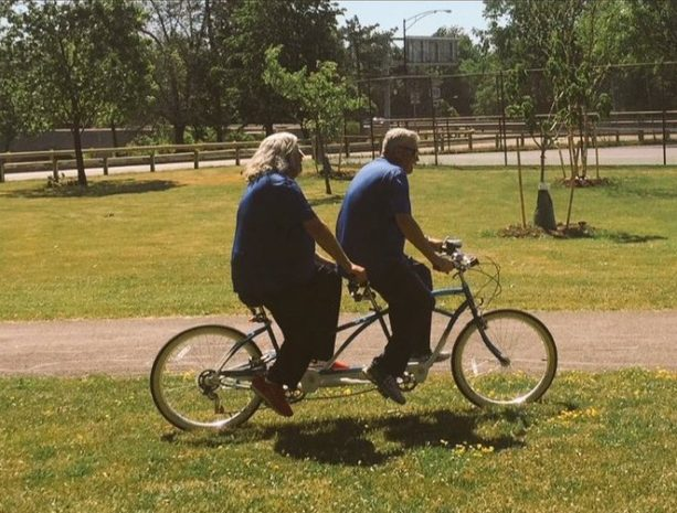 Rex and Rob Ryan Ride a Bicycle Built for Two