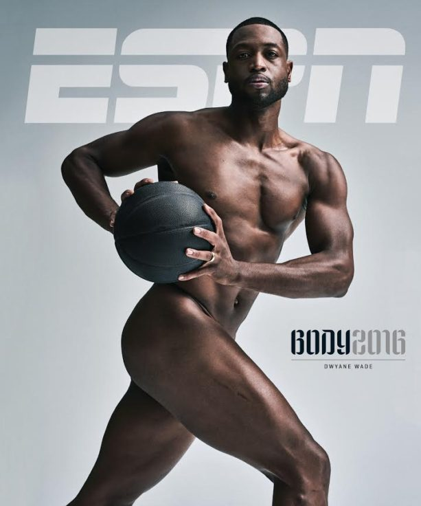 Dwyane Wade Uncovered on the Cover of ESPN Body Issue