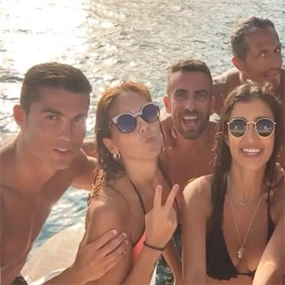Cristiano Ronaldo Vacation Yachting