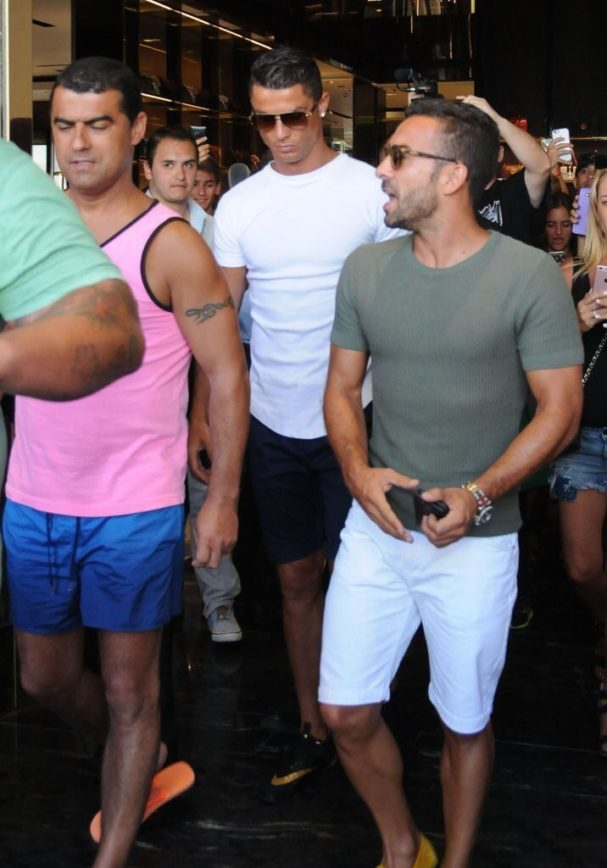 Cristiano Ronaldo Goes Shopping on Rodeo Drive