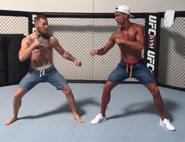 Conor McGregor And Cristiano Ronaldo Square UP