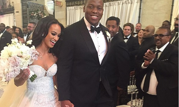 NFL Guy Walks down the Aisle with His Dog