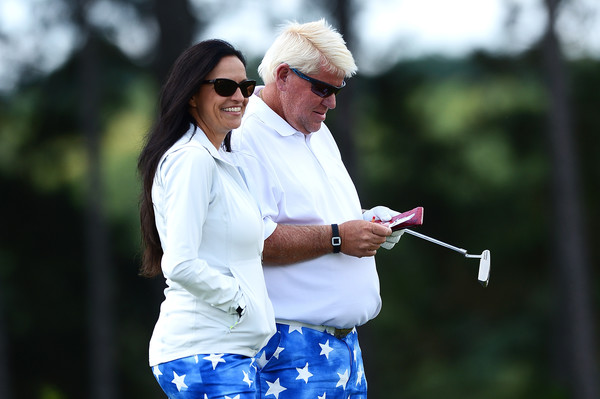 John Daly and Wife Stay Patriotic During Olympics
