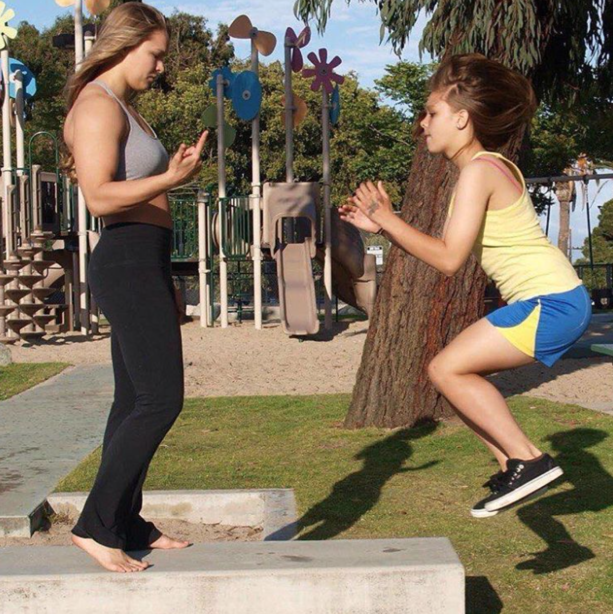 Ronda Rousey Spotted Training Her Little Sister