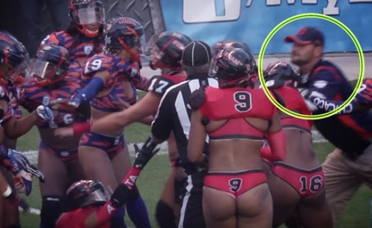 Lingerie League Coach Gets Punched in On Field Brawl