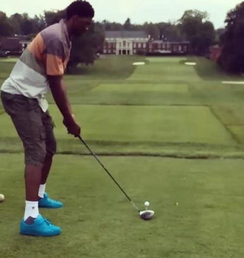 Joel Embiid, aka Tiger Hoods, taking up golf