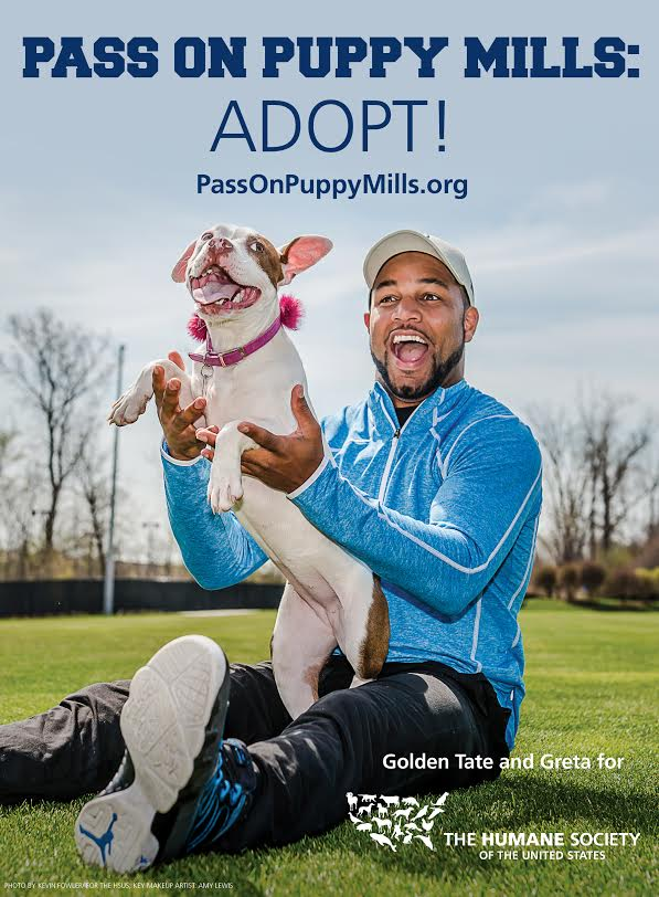 Golden Tate Supports Humane Society