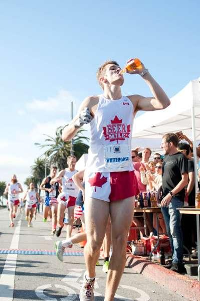 Beer Mile Record Holder Nabs Shoe Deal