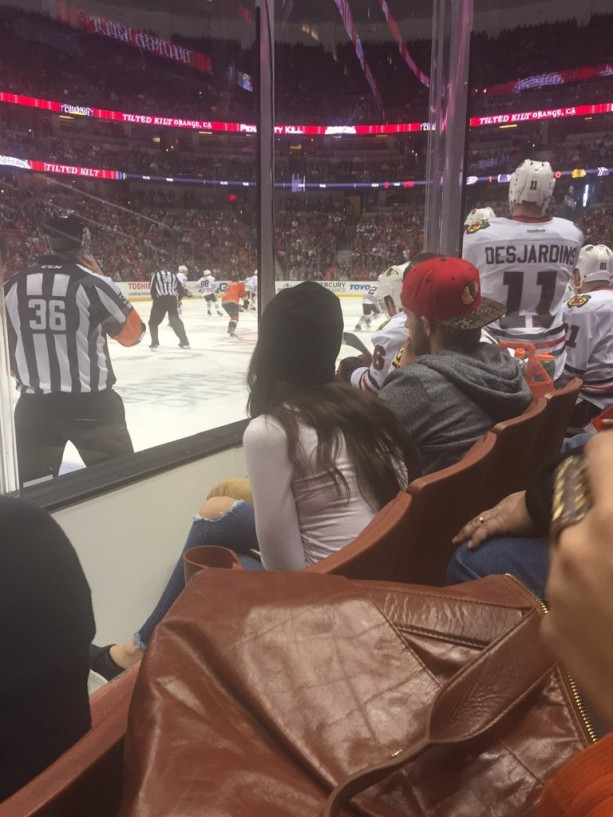 Bryce Harper Back With His Girlfriend at Hockey Game
