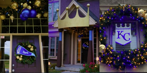 KC Royals-Themed Holiday Decor w/Lowe's