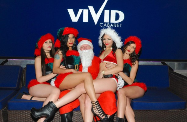 Lenny Dykstra as Santa Poses with Strippers