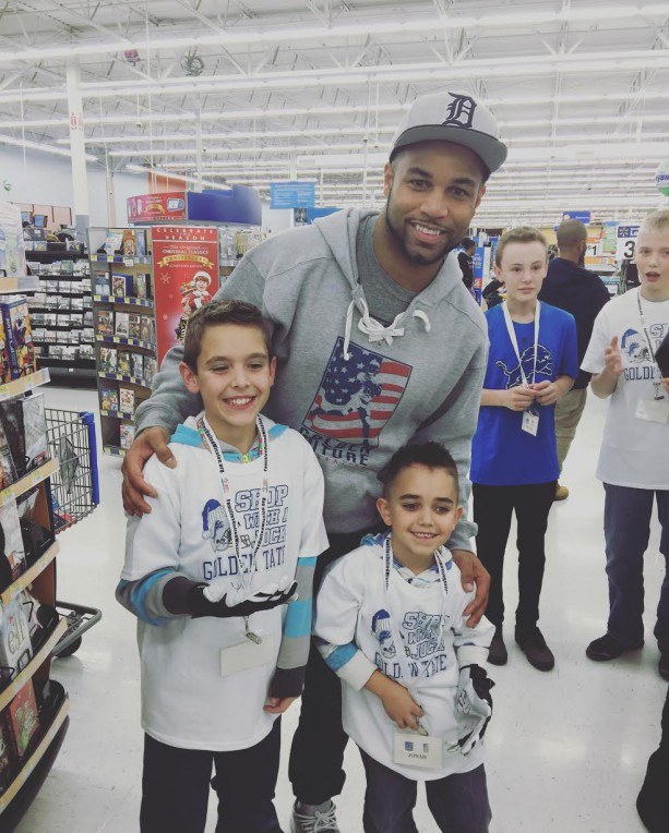 Golden Tate Hosts Shop With A Jock
