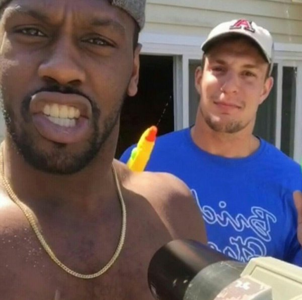 Chandler Jones Was Tripping off Molly at Gronk's House?