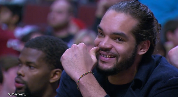 Joakim Noah Got Dem Gold Teeth
