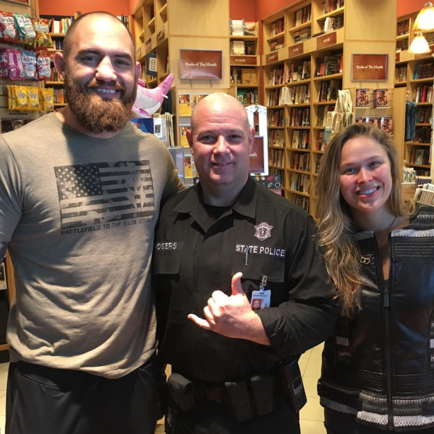 Ronda Rousey & Travis Browne State Police Friendly