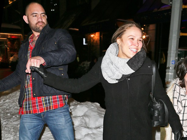 Ronda Rousey and Travis Browne Frolic in the Snow