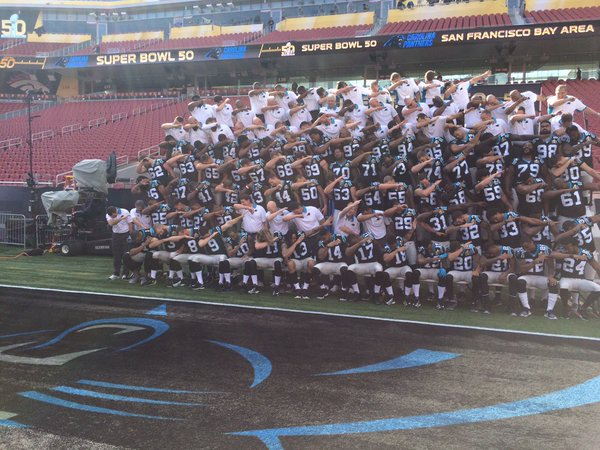 Carolina Panthers Dab For Team Photo