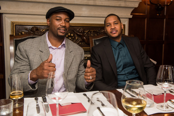 Carmelo Anthony Dines with Lennox Lewis