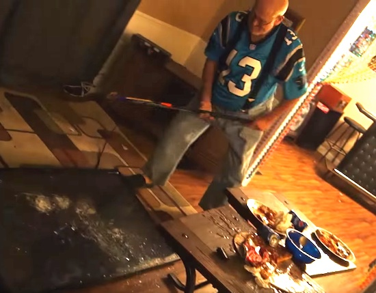 Old Panthers Fan Loses His Sh*t Over Game