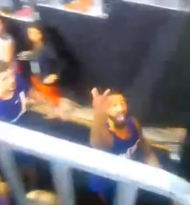 Phoenix Suns Player Flashes Gang Sign to Heckling Fan?