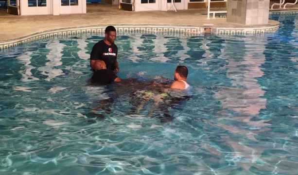 AJ Green and Wife Get Baptized