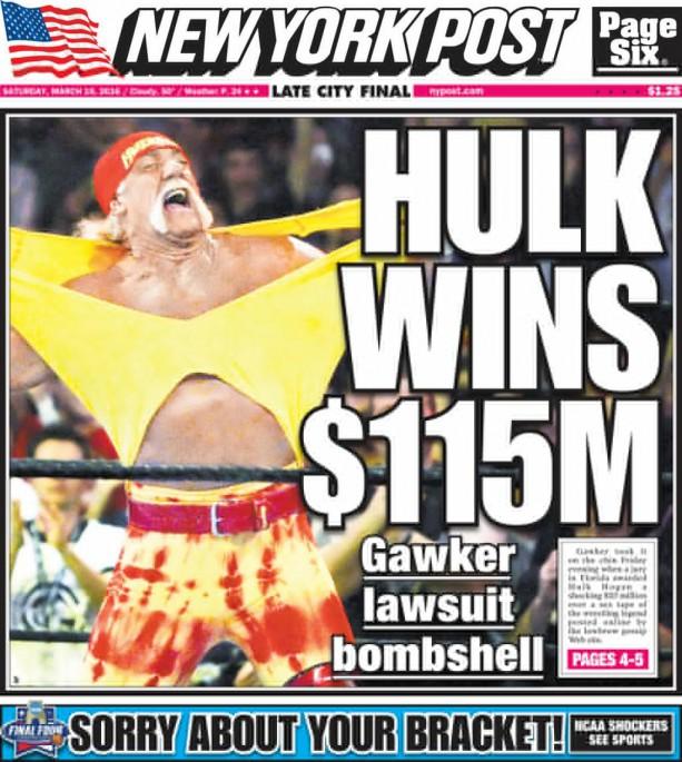 Hulk Hogan Wins Big Against Gawker Media
