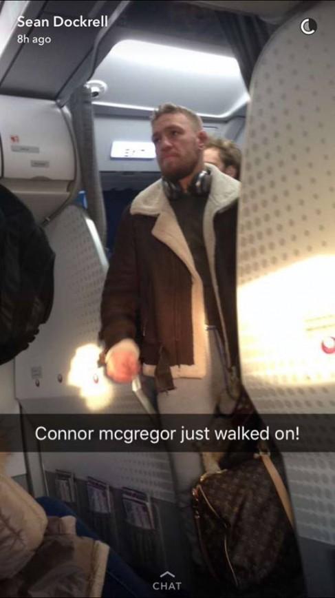 Conor McGregor Boarding A Plane