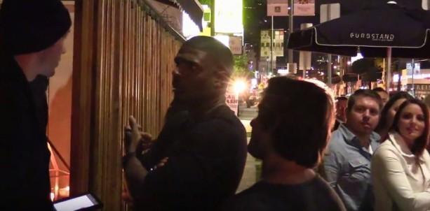 Michael Sam Stops For Cocktails