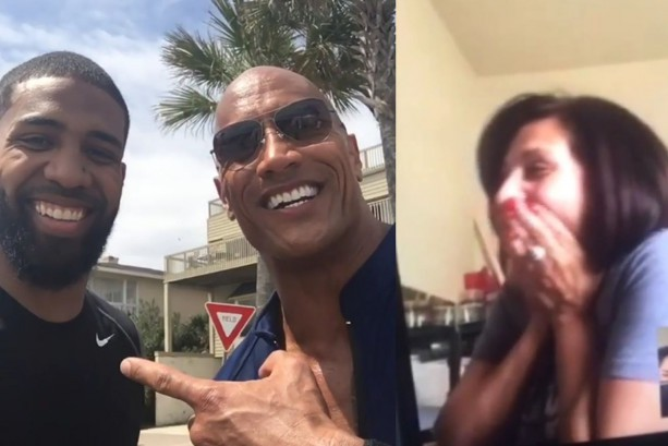 Arian Foster's Mom Hearts the Rock