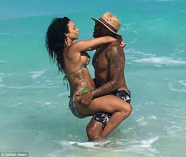 Orlando Scandrick and Draya Michele Splish Splashing in Cancun
